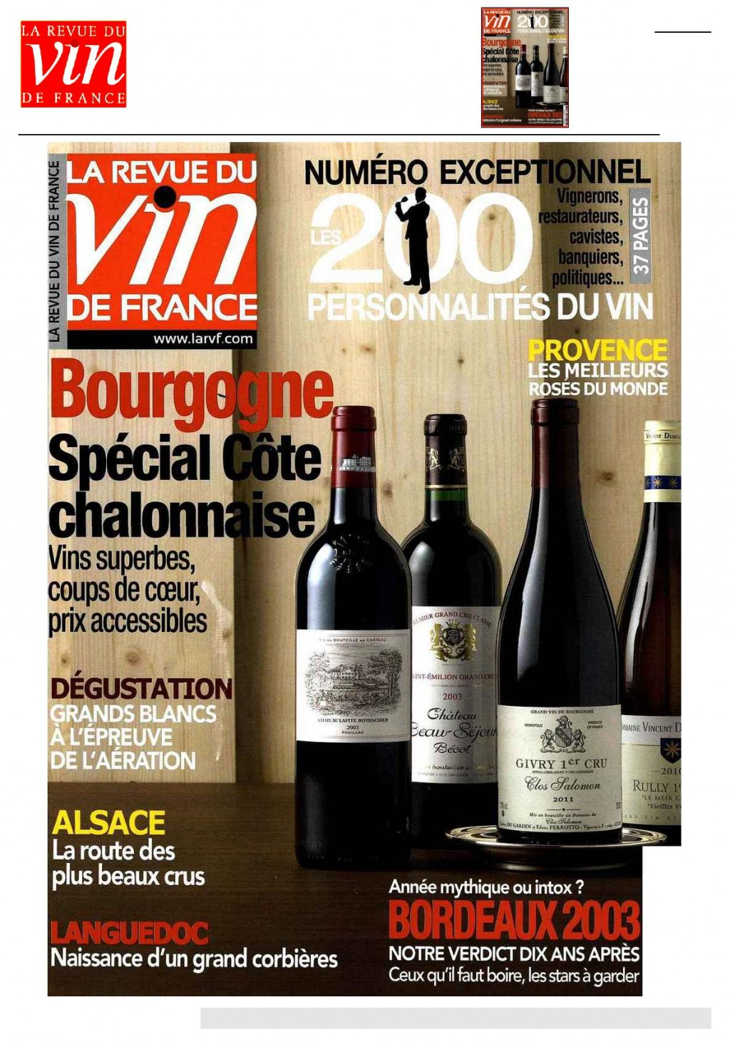 revue des vins de france mars 2013 c te chalonnaise