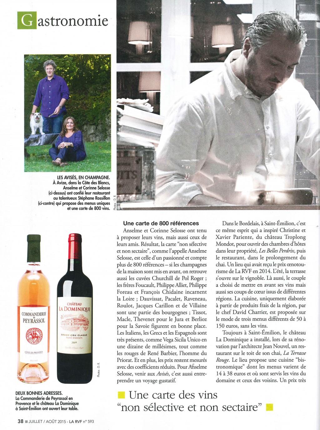 La revue des vins de france juillet 2015 olivier leflaive for Revue des vins de france