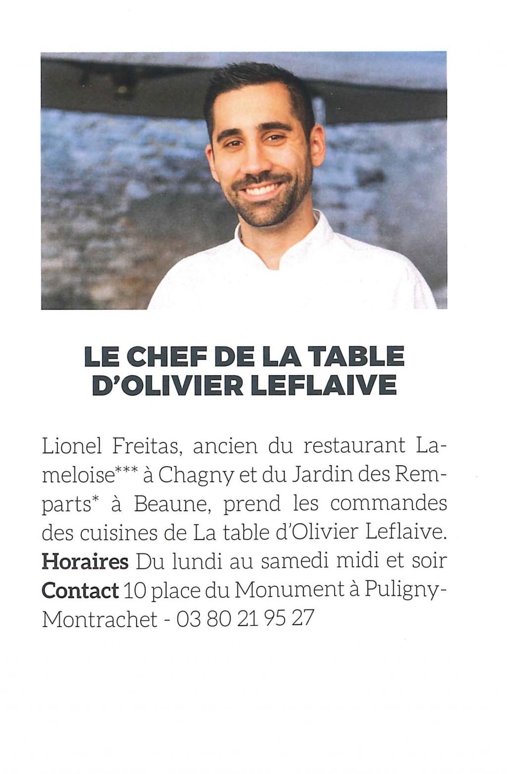 Arts et gastronomie olivier leflaive - La table d olivier leflaive puligny montrachet ...