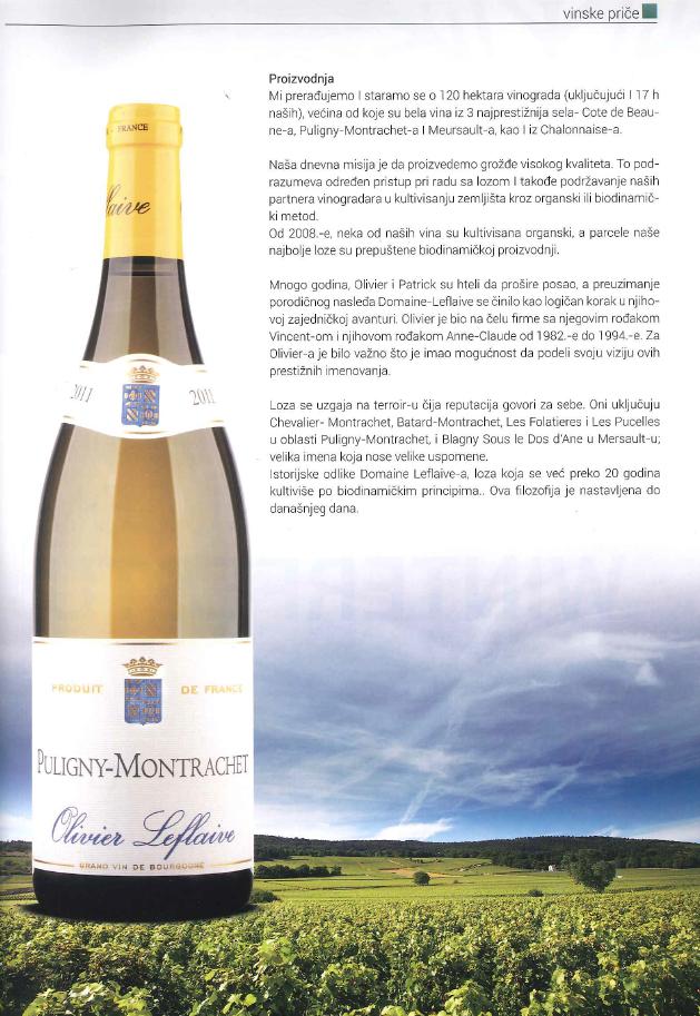 Actualit olivier leflaive grands vins de bourgogne - La table d olivier leflaive puligny montrachet ...