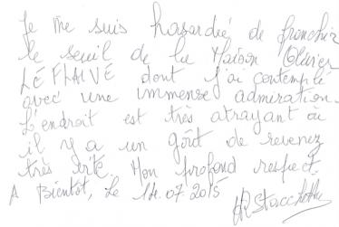 Livre d'or Olivier Leflaive FR 201500035
